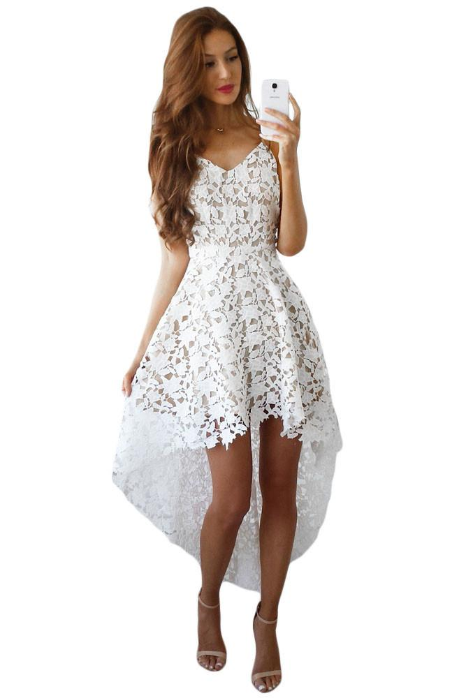 Robe de soirée blanche dentelle - Idée pour s habiller 96788763c90e