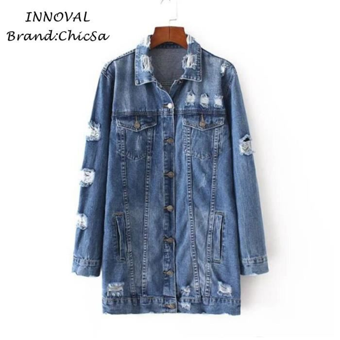 bcfc96a32666 Veste en jean femme grande taille pas cher - Idée pour s habiller