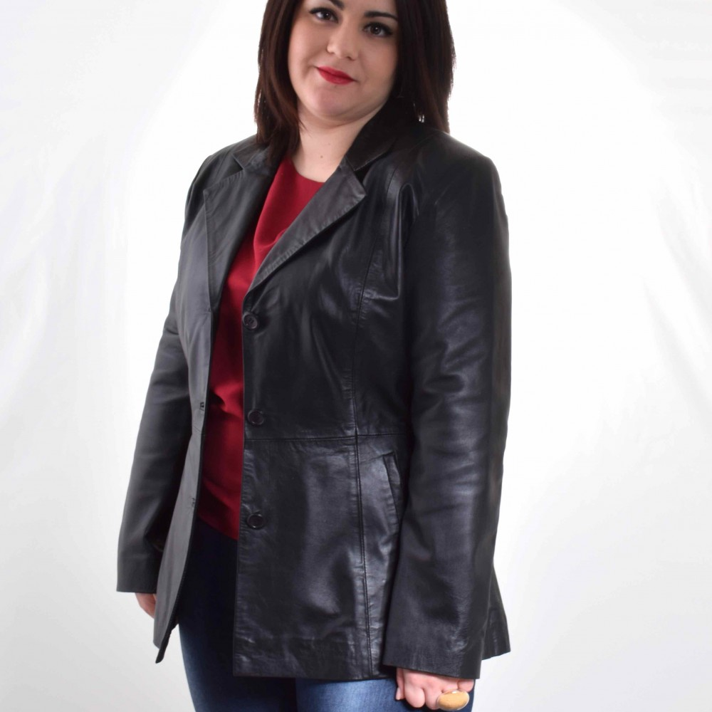 Veste cuir femme grande taille