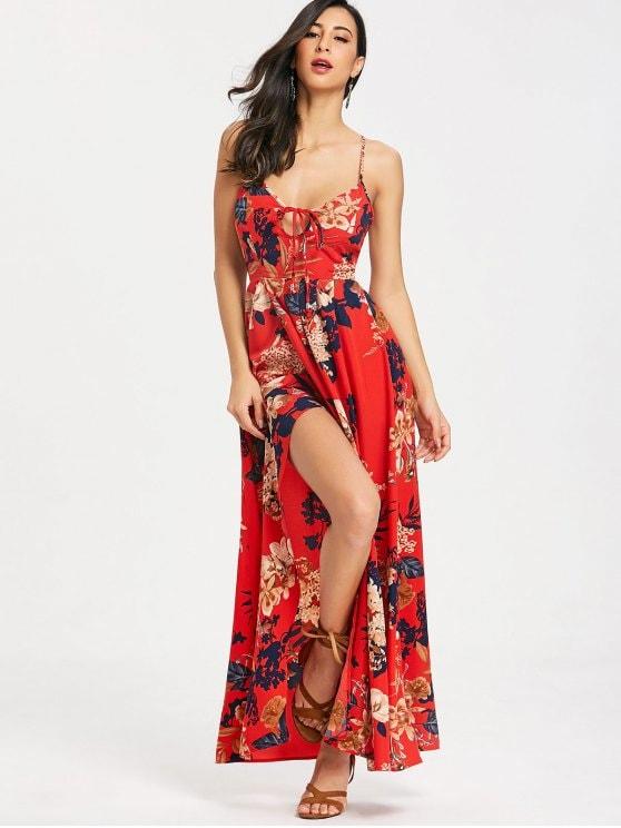 Robe fleurie a bretelles