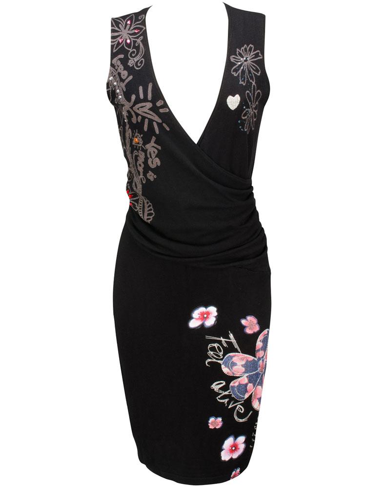 Robe desigual noire marguerite - Idée pour s habiller 79a6840db3f6
