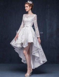 Robe de mariée courte avec bustier