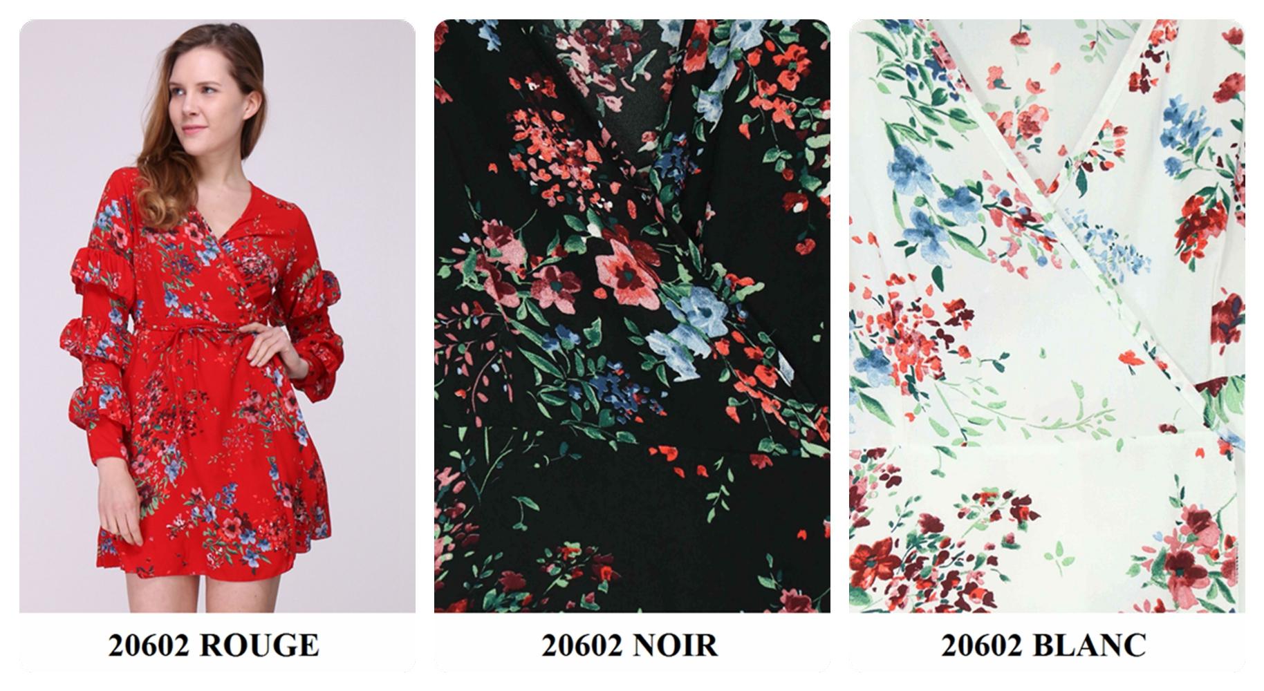 Robe fleurie coloree