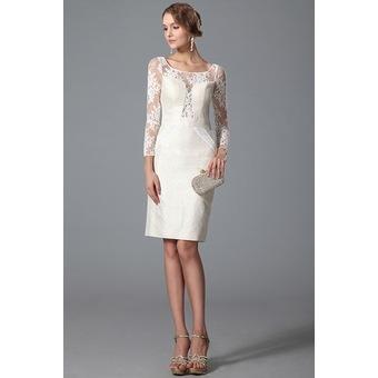 pas cher pour réduction 7d04d 135a0 Robe en dentelle courte blanche - Idée pour s'habiller