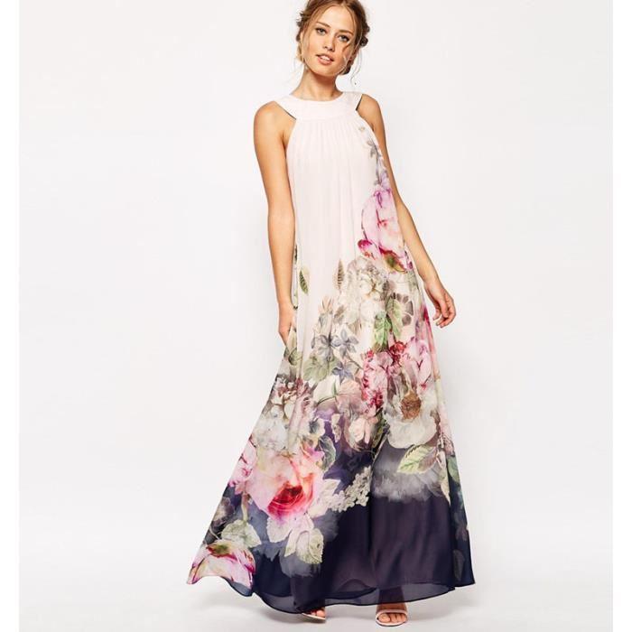 Robe fleurie blanche et rouge - Idée pour s habiller 1ea5835ffd4a