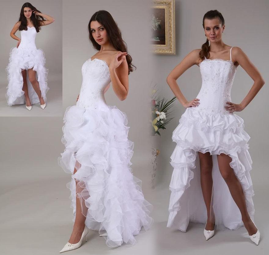 Robe de mariée tulle courte devant