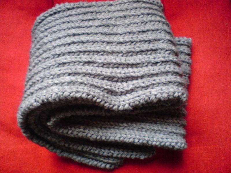 écharpe tricotin homme