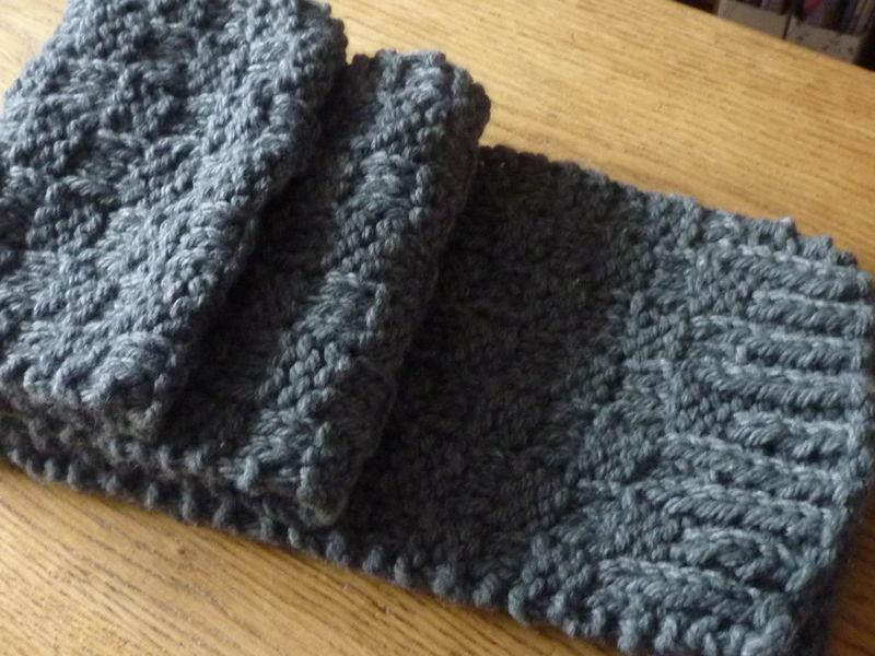7a14afadccf8 Modèle écharpe homme à tricoter - Idée pour s habiller