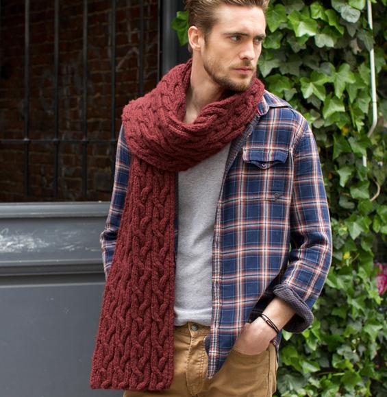 7d86a29fd5a9 Echarpe laine tricot homme - Idée pour s habiller