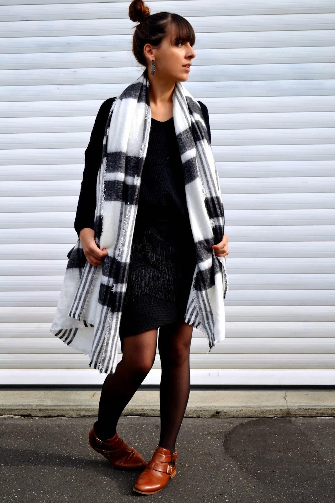 43386bb7f47bd Zara écharpe plaid - Idée pour s habiller
