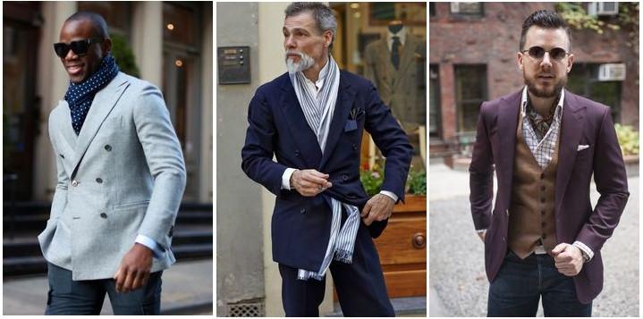 Comment porter une écharpe en soie homme