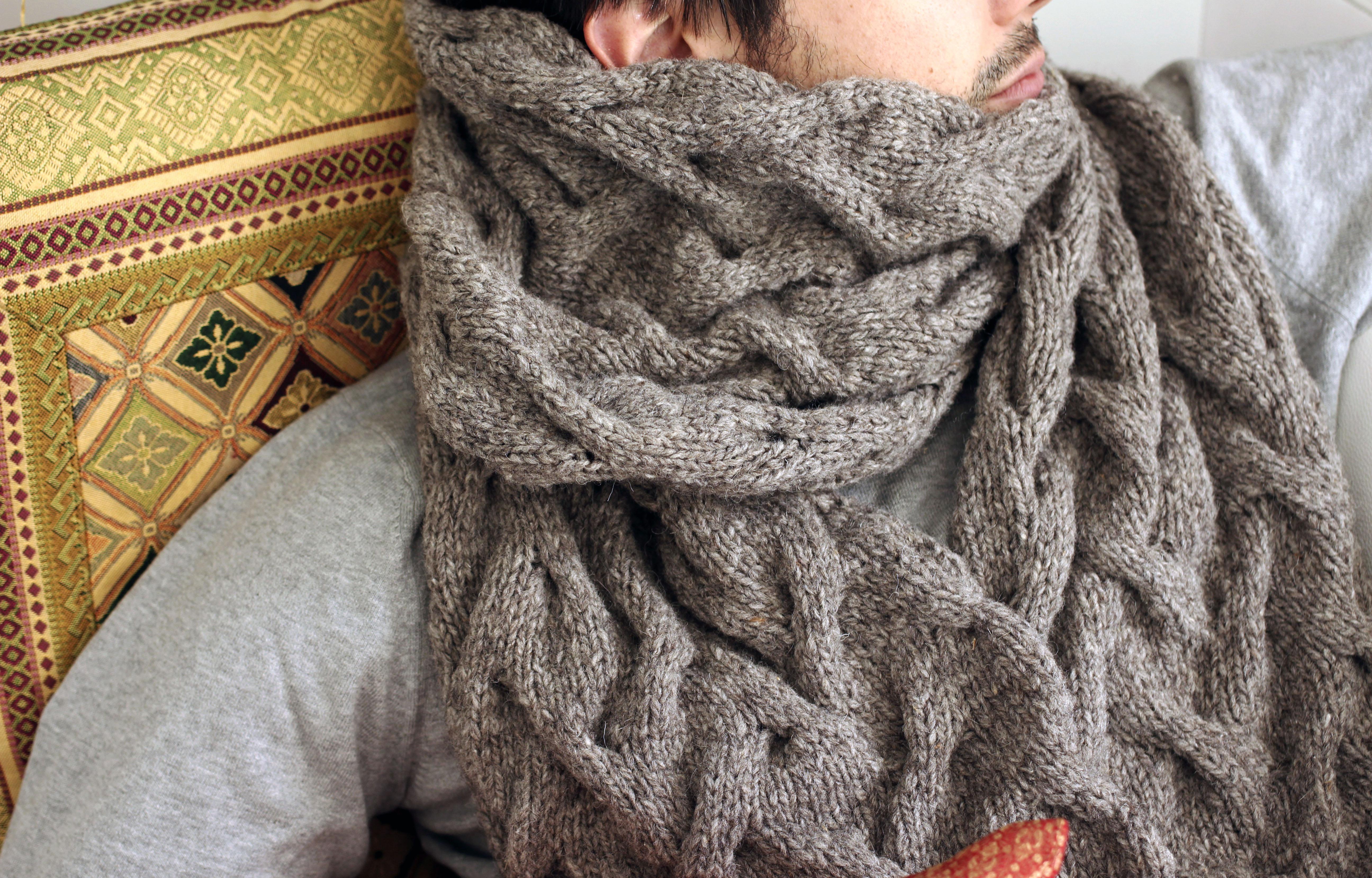 écharpe en laine pour homme