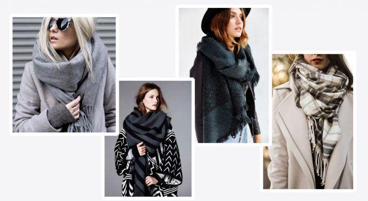 Echarpe plaid porter - Idée pour s habiller 7849a864d5a