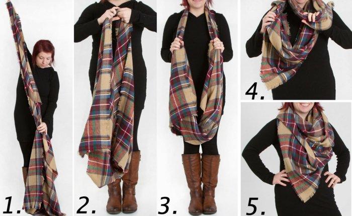Comment mettre une grande echarpe - Idée pour s habiller b95cf7fe3ca