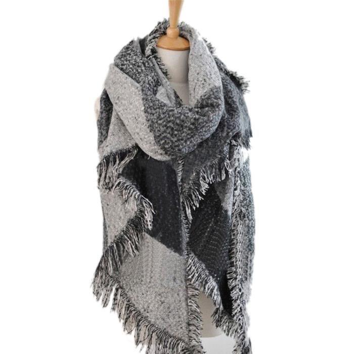 Echarpe plaid femme noir - Idée pour s habiller 43a727c5581