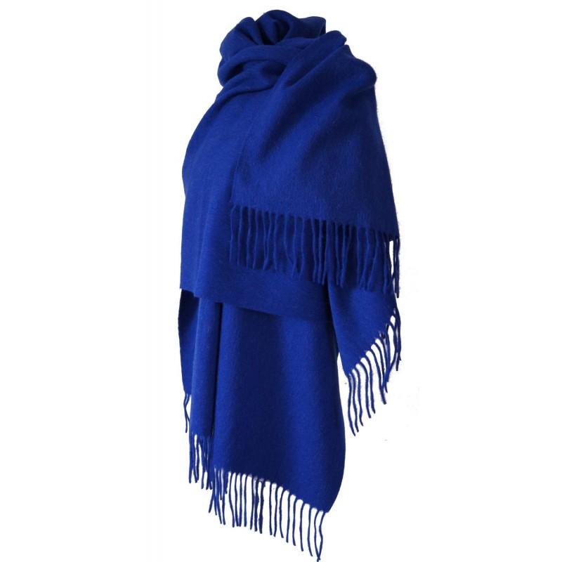 Echarpe laine bleu