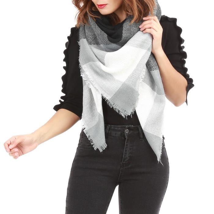 ea40a2996646 Echarpe oversize noire - Idée pour s habiller