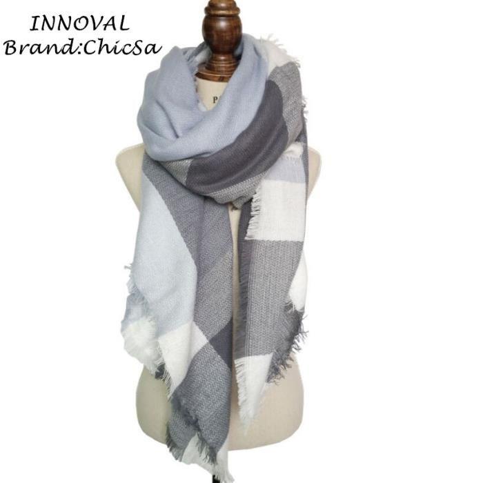 78a3be44c81e Echarpe plaid femme beige - Idée pour s habiller