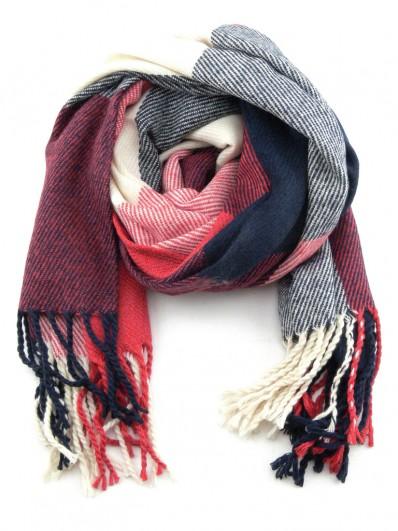 Echarpe rouge laine homme