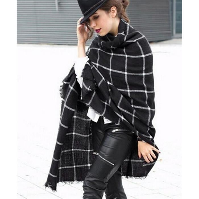 Grande echarpe femme carreaux - Idée pour s habiller bf441591f67