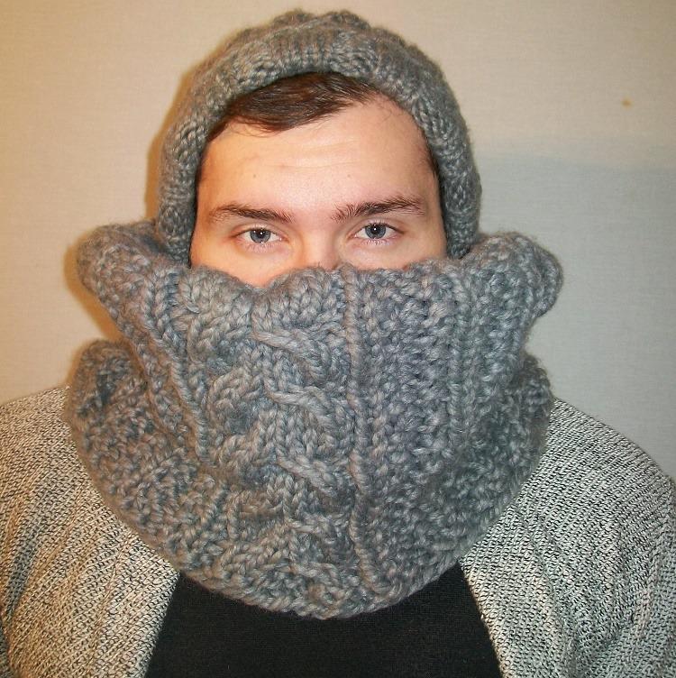 0e64295d79f1 Echarpe tube homme grise - Idée pour s habiller