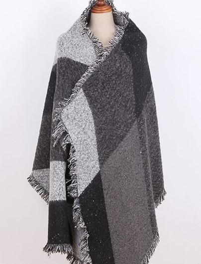 Echarpe en laine plaid - Idée pour s habiller da41113d639