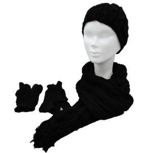 Ensemble echarpe gants femme