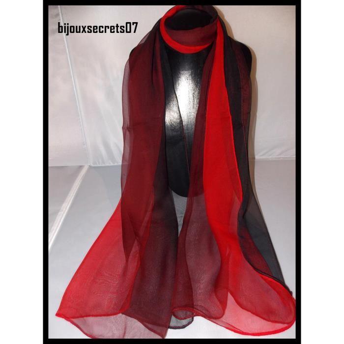 Echarpe noire et rouge femme - Idée pour s habiller fdc039ef54b