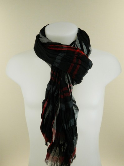 Echarpe homme carreaux noir blanc - Idée pour s habiller 208a5859272