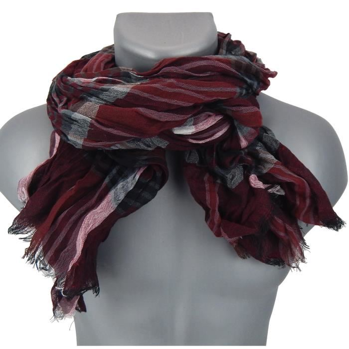 Echarpe rouge bordeaux - Idée pour s habiller 74a6608a538
