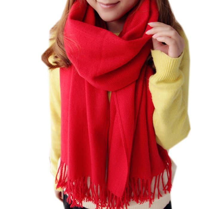 6c1dab38c1e8 Foulard echarpe femme rouge - Idée pour s habiller
