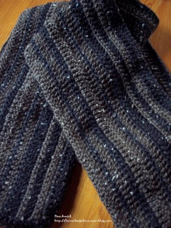 88dadae2d875 écharpe au crochet facile - Idée pour s habiller