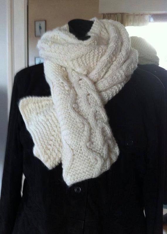 127534dca6f Echarpe homme tricot irlandaise - Idée pour s habiller