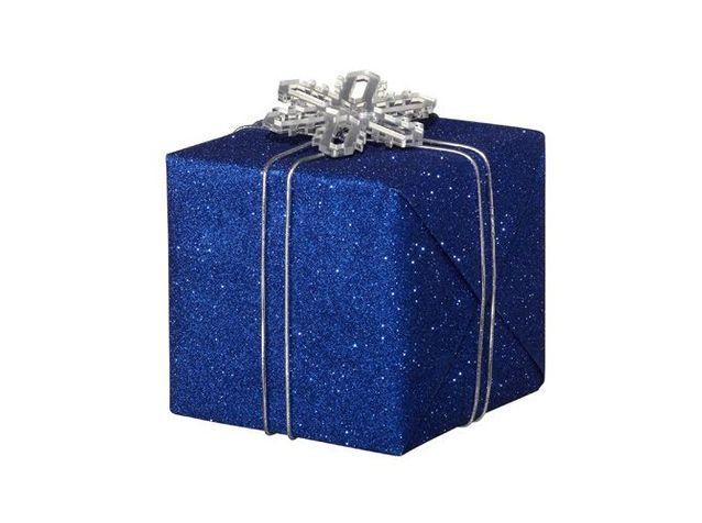 Papier cadeau noel argente