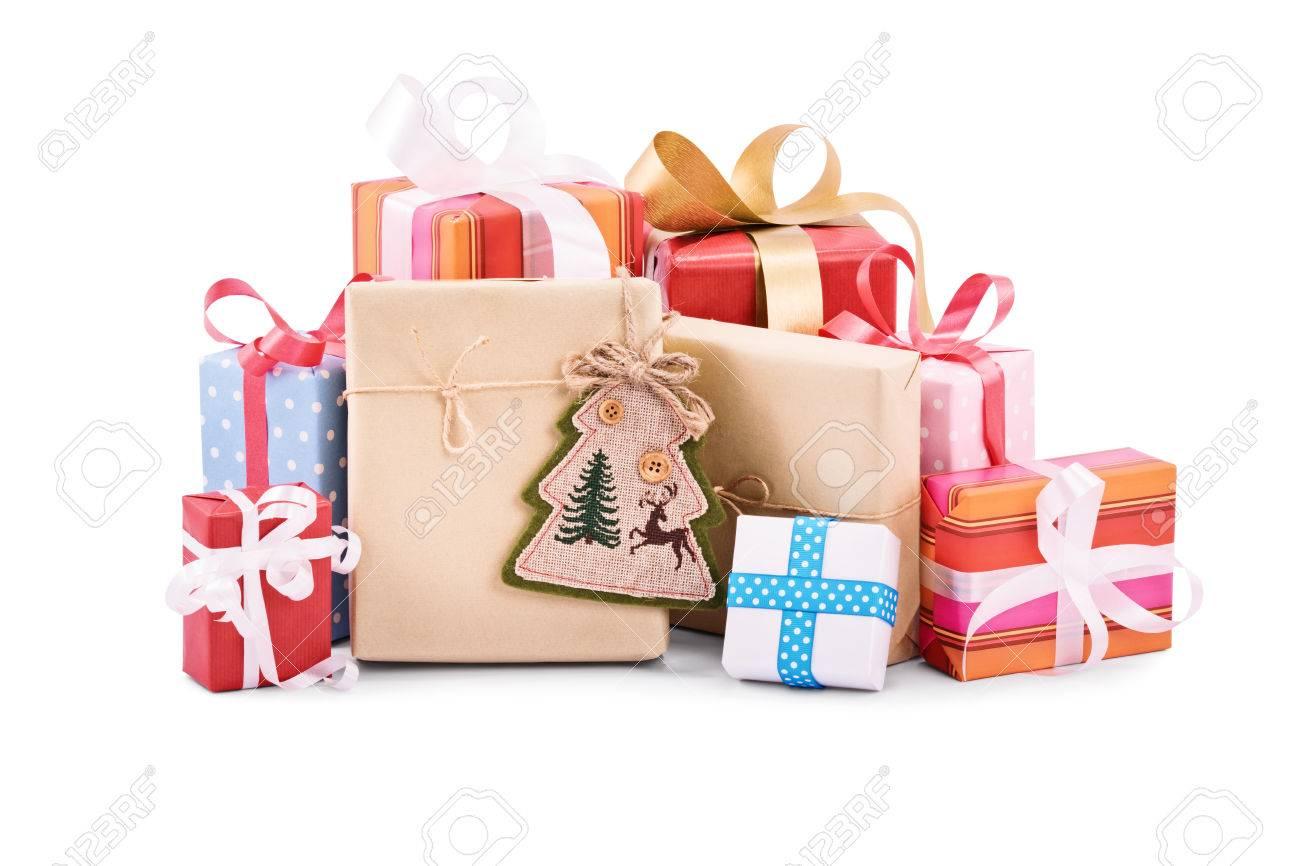 Pile de cadeau de noel