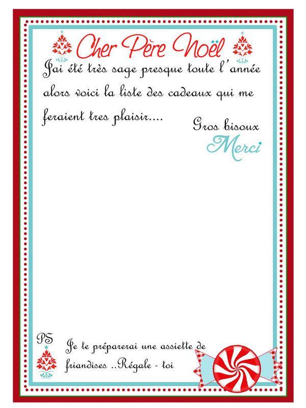Lettre pour offrir un cadeau de noel