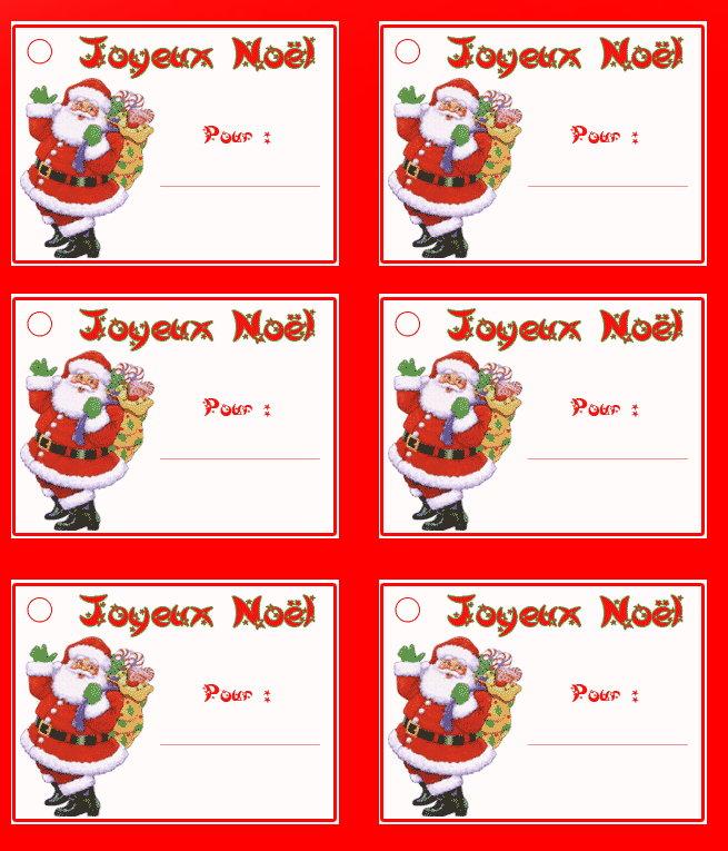 étiquette cadeau de noel disney
