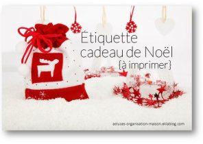Etiquette prenom cadeau de noel