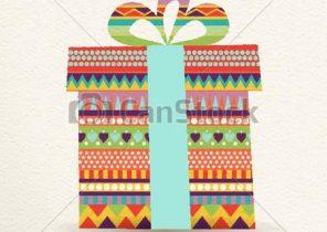 Cadeau noel en couleur