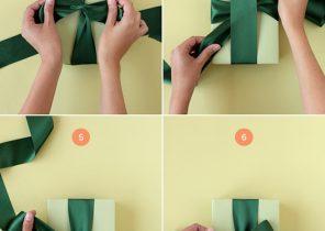 Faire noeud cadeau noel