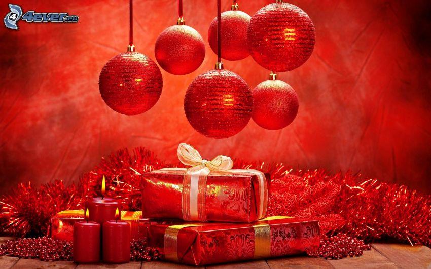 Noel cadeau boules