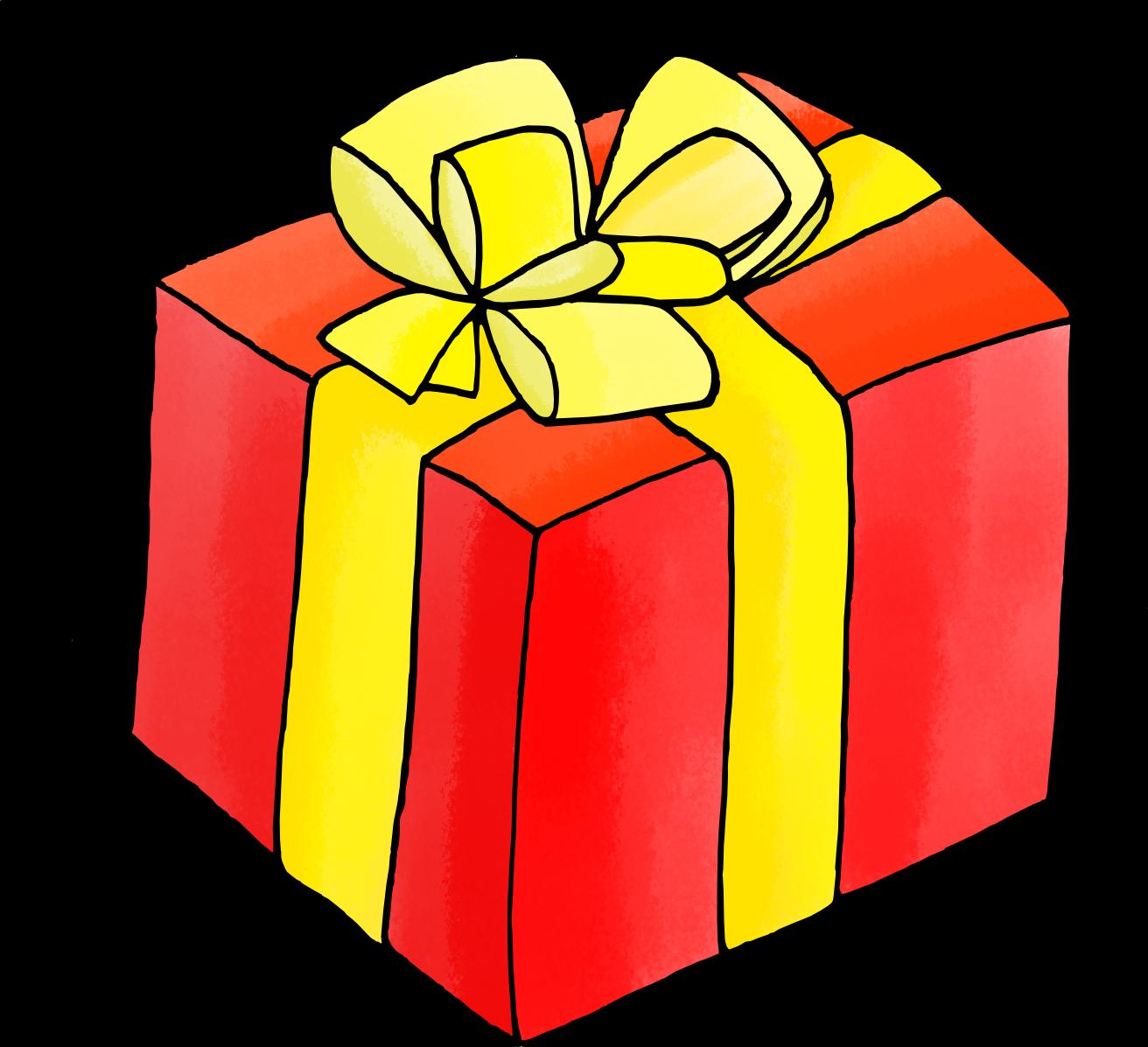 Dessin de noel en couleur cadeau