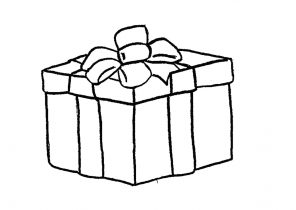 Dessin cadeau noel simple