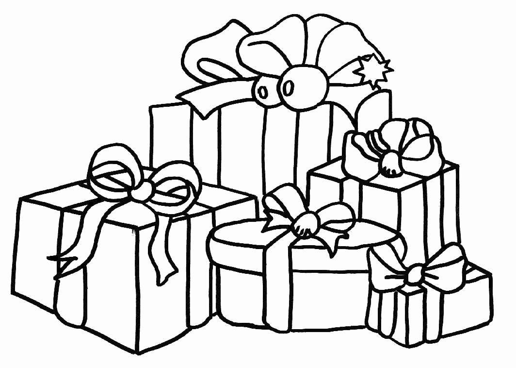 Dessin a imprimer de noel cadeau