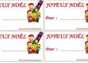 étiquette cadeau de noel mickey