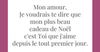 Message d'amour cadeau noel