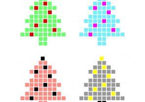 Cadeau de noel pixel art
