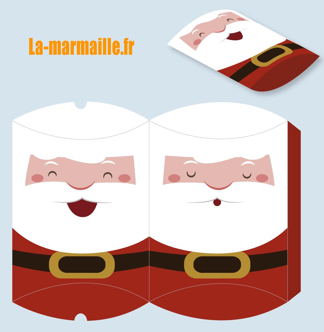 Enveloppe cadeau noel à imprimer